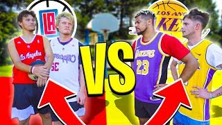 Lakers vs Clippers Basketball Challenges! ft. 2HYPE