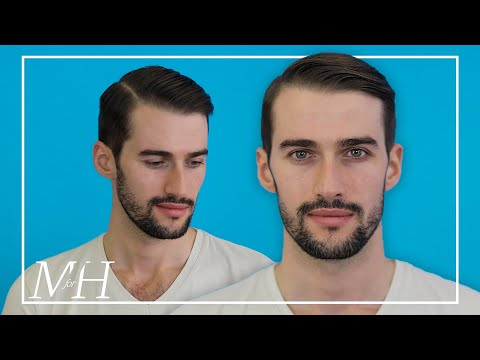 men's-side-part-haircut-and-style-using-pomade- -how-to
