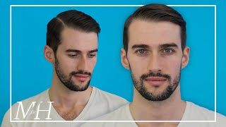 Men's Side Part Haircut and Style Using Pomade | How To