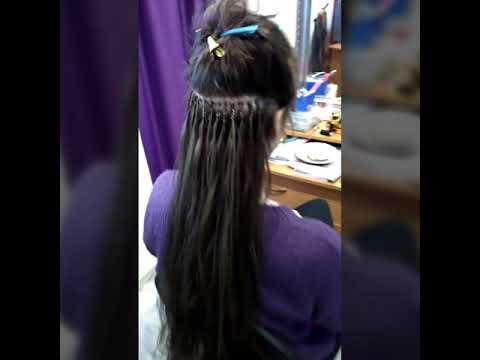 Голливудское наращивание волос (Новинка) - YouTube