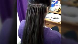 Наращивание волос косичками