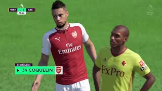 FIFA 18 | Watford vs Arsenal | Premier League 2017/18 | Full Gameplay PS4