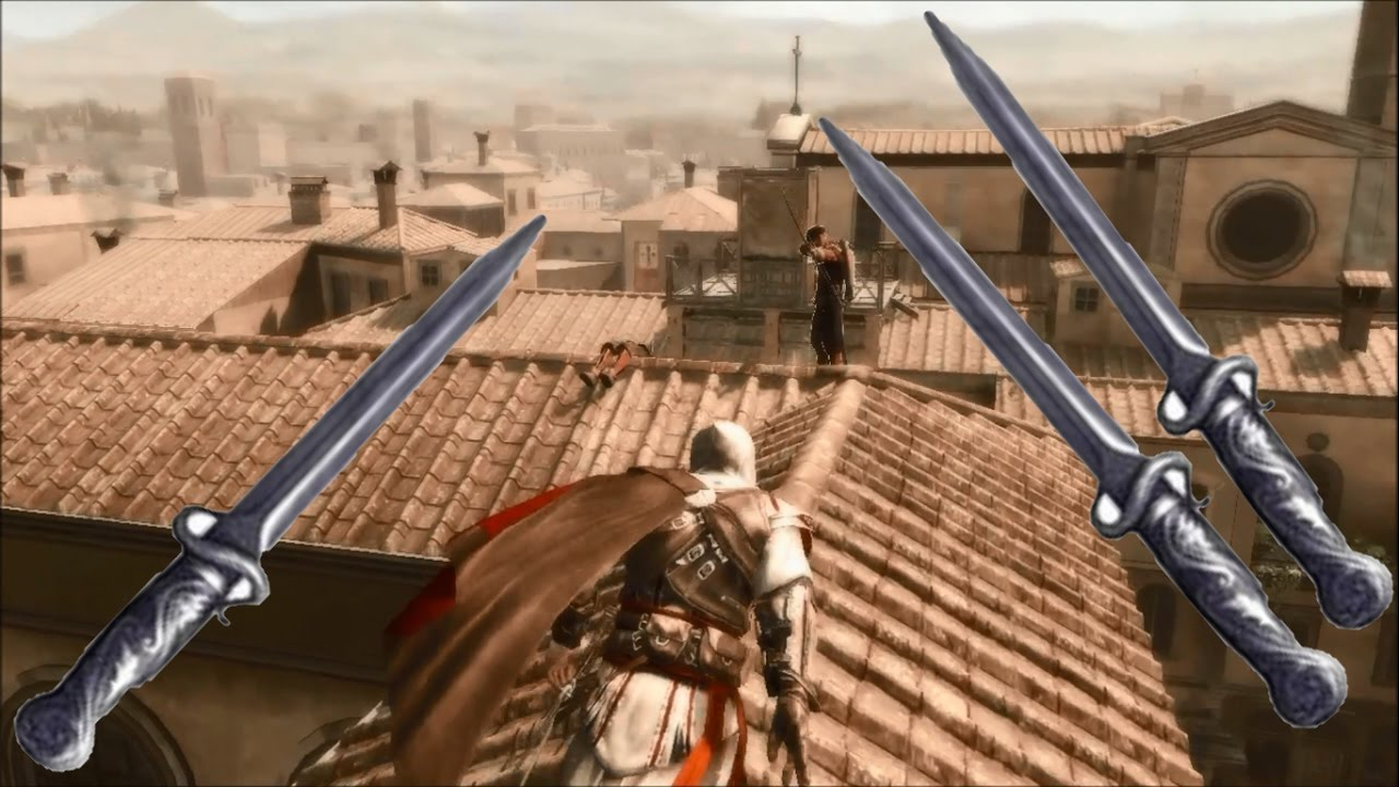 Assassins Creed 2 Throwing Knives Youtube