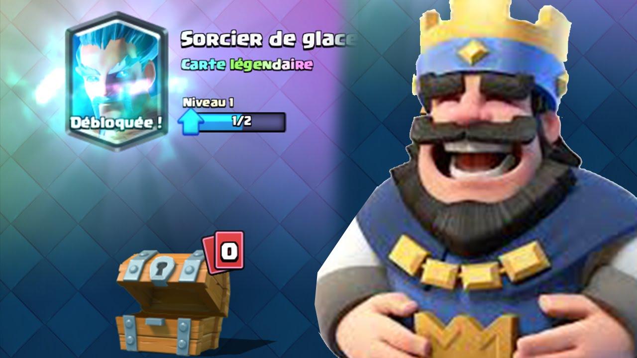 Ice wizard sorcier de glace in free chest legendary for Deck clash royale sorcier de glace