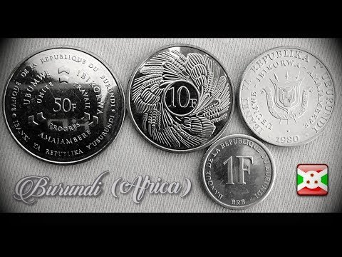 Coin collection   Burundi ( Africa)   4 Coins ( Franc ) from 1980