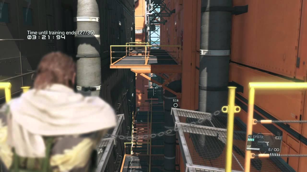 metal gear solid v side ops target practice r d platform youtube