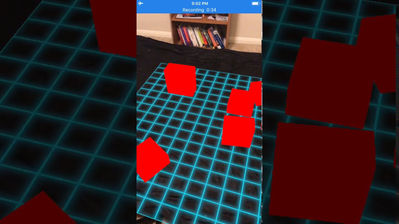 ARKit - Boxes on a Plane