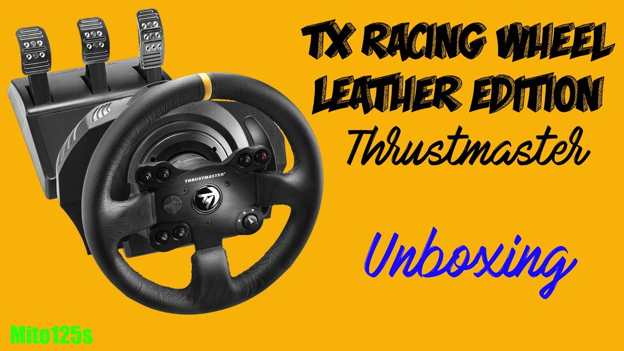 unboxing volante thrustmaster tx racing wheel leather. Black Bedroom Furniture Sets. Home Design Ideas