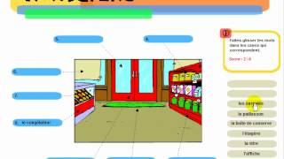 Learn French words - Dans le magasin