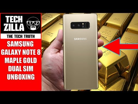 Samsung Galaxy Note 8 Unboxing - Dual SIM - Maple Gold (4K)
