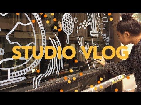 STUDIO VLOG (MY BOOK LAUNCH, WINDOW PAINTING + VEGAS)