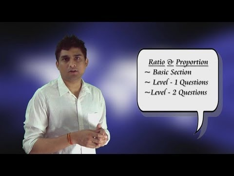 Ratio & Proportion (Basics)  (Part-1 Ratios)