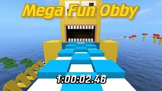 Roblox - Mega Fun Obby {550 Stage Speedrun} | (1:00:02:46) *Former World Record*
