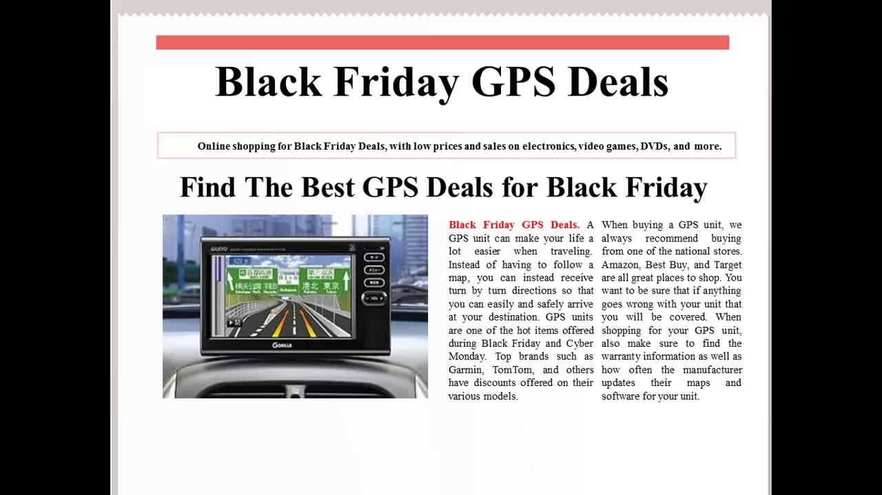 Black Friday Gps Deals 2012 Youtube