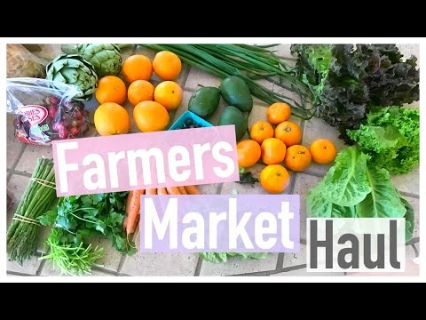 Farmers Market Grocery Haul