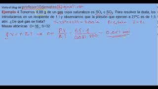 Ecuación de estado de los gases ideales ejercicio resuelto 4