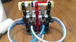 레고 공압엔진 탄산수 정수기로 돌리기