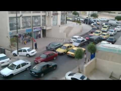 Traffic jam in Jordan