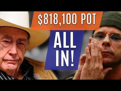 Doyle Brunson VS Guy Laliberte ALL IN for $818,100! (Poker Hand of the Day)