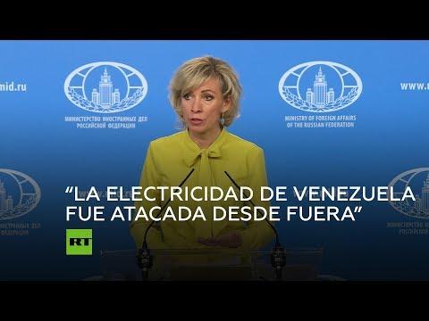 """Rusia: """"El sistema eléctrico venezolano fue atacado desde el exterior"""""""
