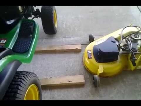John Deere L130 Mower Deck Installation - YouTube