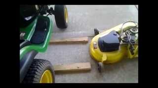 John Deere L130 Mower Deck Installation