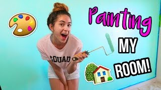 PAINTING MY NEW ROOM!! Moving Vlog!!