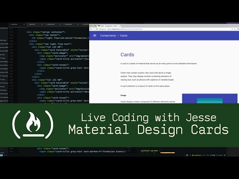 Material Design Cards - Live Coding with Jesse