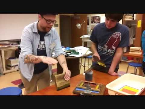Screen Printing Workshop at Rham Middle School