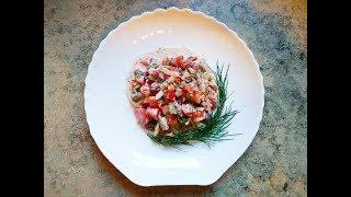 """Рыбный салат с фасолью """"Свежесть"""""""