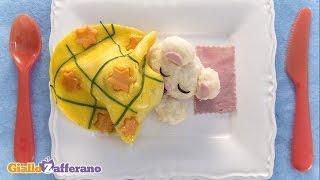 Rice Teddy Bear In An Egg Blanket - Kid Friendly Recipe