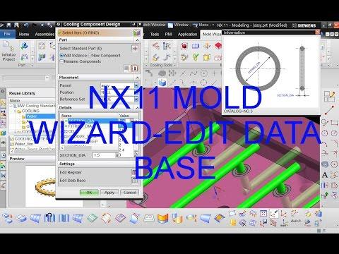 NX11 MOLD WIZARD EDIT DATA BASE - YouTube