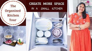 Organized Kitchen Cabinets & Drawers / How To Organize Indian Kitchen / Indian Kitchen Tour