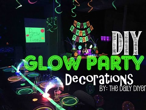 Glow Party Decor & Food
