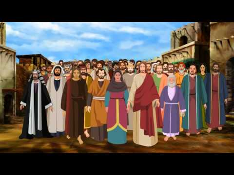 Bible stories for kids  - Jesus heals a paralytic at the Pool of Bethesda ( English Cartoon )