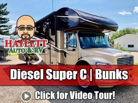 Used 2016 Jayco Seneca 37FS Diesel Class Super C Bunkhouse Motor Home Tour & Test Drive!