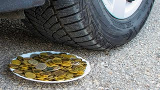 Crushing Crunchy \u0026 Soft Things by Car! EXPERIMENT CAR VS COINS