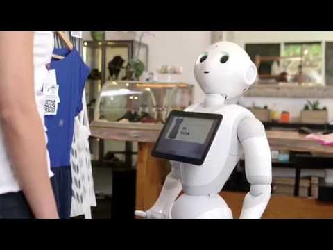 A KNOWLEDGEABLE ROBOT SALESPERSON