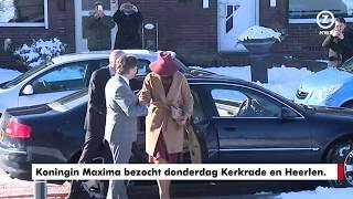 Koningin Maxima bezoekt Heerlen en Kerkrade