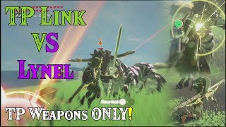 Zelda BotW TP Link VS Lynel! TP Weapons ONLY in Zelda Breath of the Wild amiibo (Viewers Request)