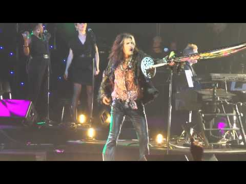 Steven Tyler plays at John Lennon's 75th Birthday Concert, MSG, NYC