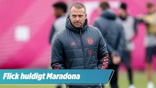 """Bayern-Trainer Hansi Flick huldigt Diego Maradona: """"Er war ein Genie"""""""