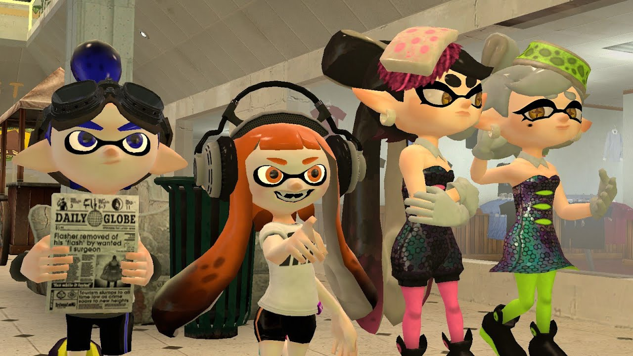 Anime Characters For Gmod : Splatoon gmod squidplaza tour youtube