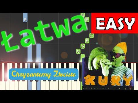 🎹 Chryzantemy złociste (wersja współczesna) - Piano Tutorial (łatwa wersja) 🎹