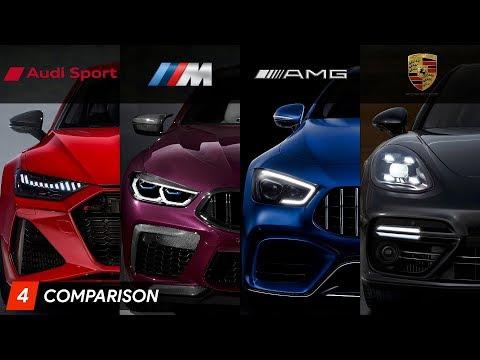 Audi RS7 Vs BMW M8 Gran Coupe Vs Mercedes AMG GT 63 S Vs Porsche Panamera Turbo | Aircar
