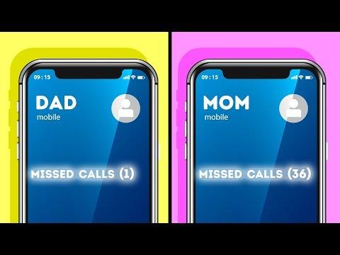 MOM VS. DAD