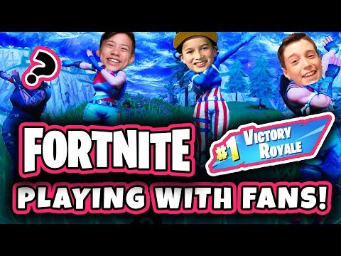 FORTNITE: PLAYING WITH FANS!!! Eliminated by CouRageJD!