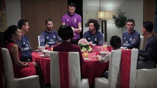 Cristiano Ronaldo Speaks CHINESE With Real Madrid Teammates As He Celebrates The New Year