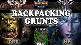 Grubby | Warcraft 3 The Frozen Throne | 1.26 | ORC v NE - Backpacking Grunts - Ancient Isles