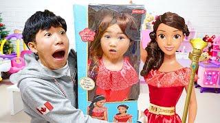 بولام صديق ليصبح أميرة! Boram BIG Doll & Kids Make Up
